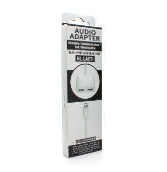 Adapter REMAX Concise za slusalice i punjenje iPhone lightning RL-LA07i beli